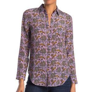 J. Crew Tiger Silk Shirt
